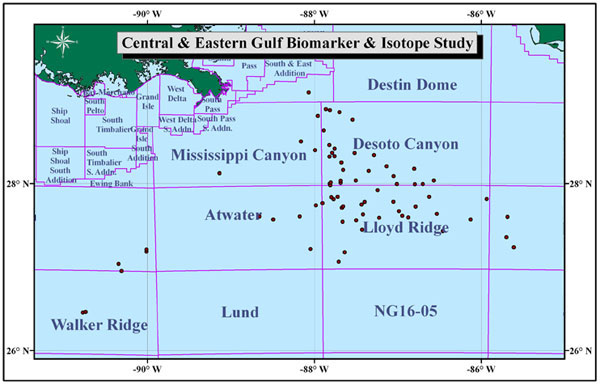 Central and Eastern Gulf Biomarker and Isotope Study (CEGBIS)